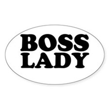 BOSS LADY Oval Decal