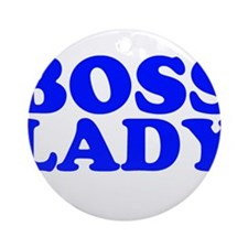 BOSS LADY Ornament (Round)