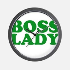 BOSS LADY GREEN Wall Clock