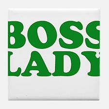 BOSS LADY GREEN Tile Coaster