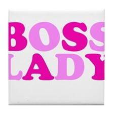 BOSS LADY pink Tile Coaster