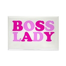 BOSS LADY pink Rectangle Magnet