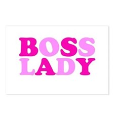 BOSS LADY pink Postcards (Package of 8)