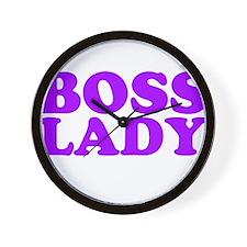 BOSS LADY PURPLE Wall Clock