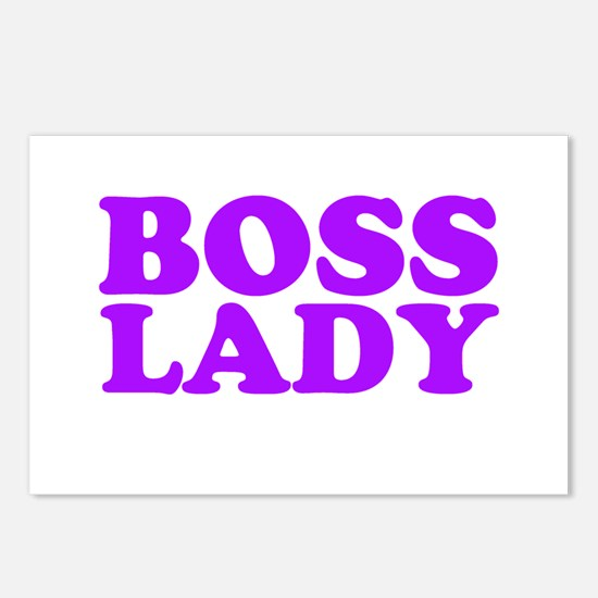 BOSS LADY PURPLE Postcards (Package of 8)