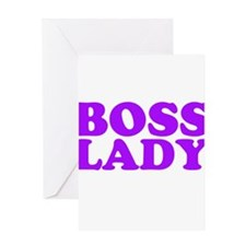 BOSS LADY PURPLE Greeting Card