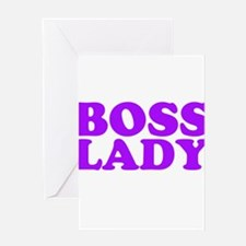 BOSS LADY PURPLE Greeting Card