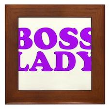 BOSS LADY PURPLE Framed Tile