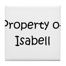 Funny Isabell Tile Coaster