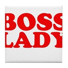 BOSS LADY RED Tile Coaster