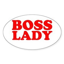 BOSS LADY RED Oval Decal