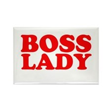 BOSS LADY RED Rectangle Magnet