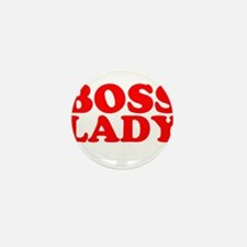 BOSS LADY RED Mini Button