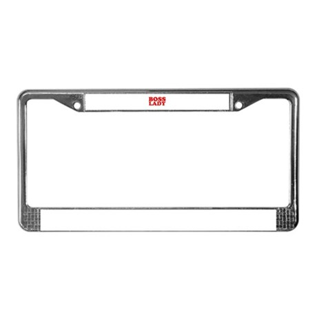 BOSS LADY RED License Plate Frame