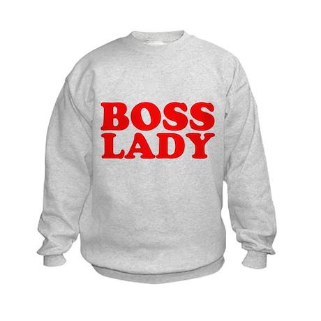BOSS LADY RED Kids Sweatshirt