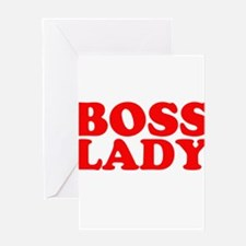 BOSS LADY RED Greeting Card