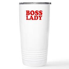BOSS LADY RED Travel Coffee Mug
