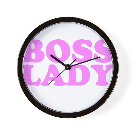 BOSS LADY BABY PINK Wall Clock