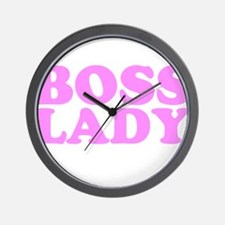 BOSS LADY BABY PINK Wall Clock