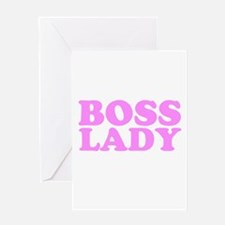 BOSS LADY BABY PINK Greeting Card