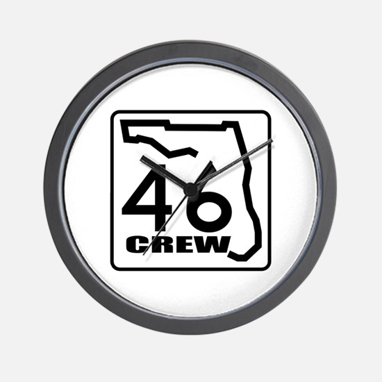 46 Crew Wall Clock