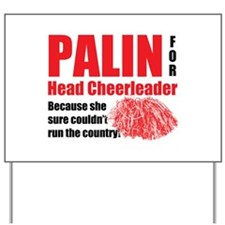 Palin Cheerleader Yard Sign