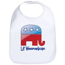Lil Weepublican Red/Blue Bib