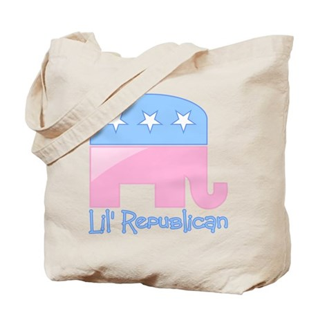 Lil Republican Pink/Blue Tote Bag