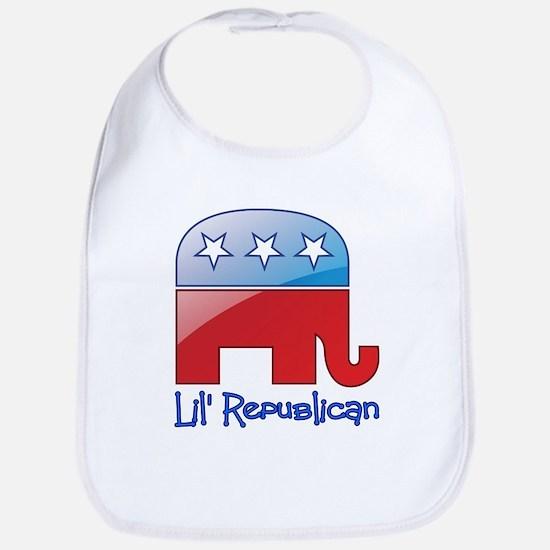 Lil Republican Red/Blue Bib