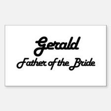 Gerald - Father of Bride Rectangle Decal