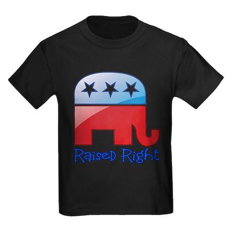 Raised Right Red/Blue Kids Dark T-Shirt
