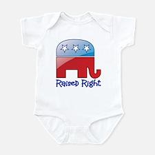 Raised Right Red/Blue Infant Bodysuit