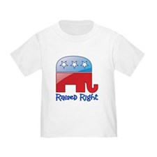 Raised Right Red/Blue T
