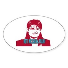 You Betcha! Oval Decal