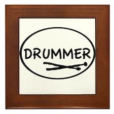 Drummer (oval) Framed Tile