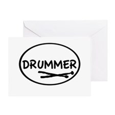 Drummer (oval) Greeting Card