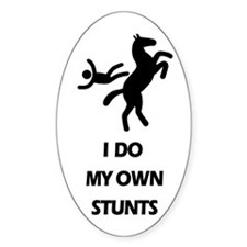 Rearing Horse 'Stunts' Oval Decal