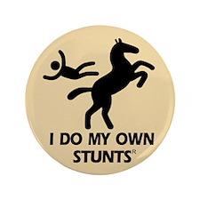 "Rearing Horse 'Stunts' 3.5"" Button"
