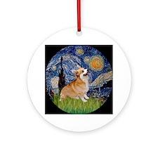 Starry Night & Welsh Corgi Keepsake (Round)