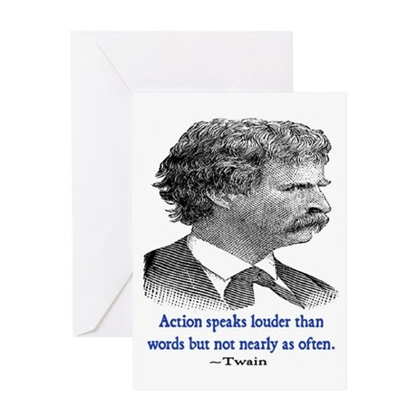TWAIN ACTION QUOTE Greeting Card