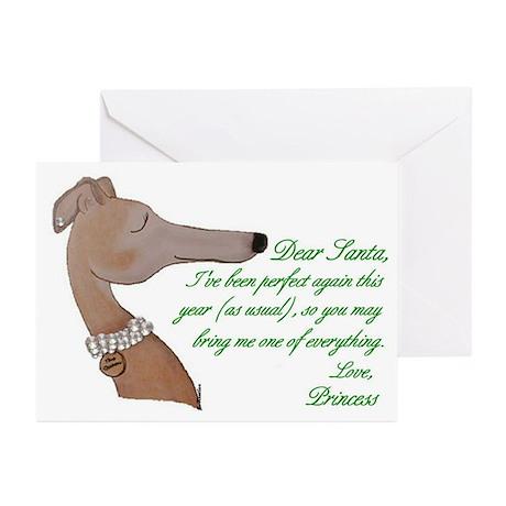 Greyhound Princess Holiday Cards (Pk of 10)