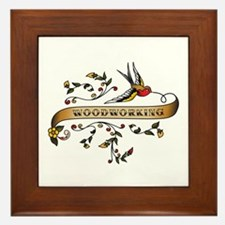 Woodworking Scroll Framed Tile