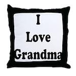 I Love Grandma Throw Pillow