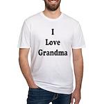 I Love Grandma Fitted T-Shirt