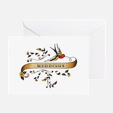 Weddings Scroll Greeting Card