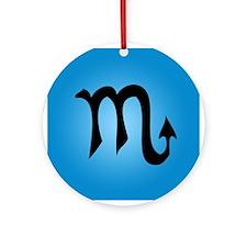 Scorpio Symbol Ornament (Round)