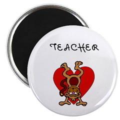"""Teachers Love Kids 2.25"""" Magnet (10 pack)"""