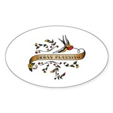 Urban Planning Scroll Oval Decal