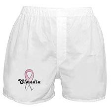 Claudia Pink Ribbon Boxer Shorts