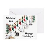 Bunny christmas Greeting Cards (20 Pack)